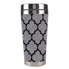 Tile1 Black Marble & Gray Colored Pencil (r) Stainless Steel Travel Tumblers