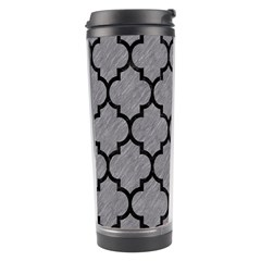 Tile1 Black Marble & Gray Colored Pencil (r) Travel Tumbler
