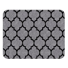 Tile1 Black Marble & Gray Colored Pencil (r) Double Sided Flano Blanket (large)
