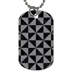 Triangle1 Black Marble & Gray Colored Pencil Dog Tag (one Side)