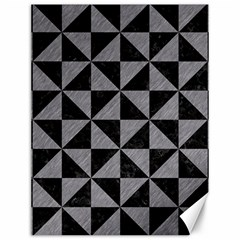 Triangle1 Black Marble & Gray Colored Pencil Canvas 12  X 16