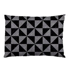 Triangle1 Black Marble & Gray Colored Pencil Pillow Case