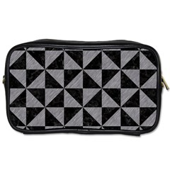 Triangle1 Black Marble & Gray Colored Pencil Toiletries Bags 2 Side