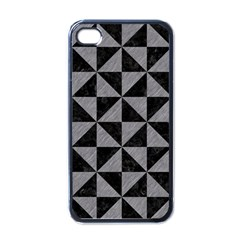 Triangle1 Black Marble & Gray Colored Pencil Apple Iphone 4 Case (black)