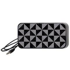 Triangle1 Black Marble & Gray Colored Pencil Portable Speaker (black)