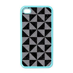 Triangle1 Black Marble & Gray Colored Pencil Apple Iphone 4 Case (color)