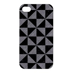 Triangle1 Black Marble & Gray Colored Pencil Apple Iphone 4/4s Hardshell Case
