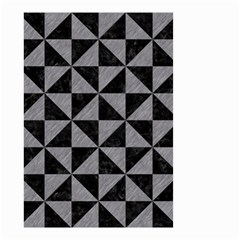 Triangle1 Black Marble & Gray Colored Pencil Small Garden Flag (two Sides)