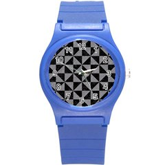 Triangle1 Black Marble & Gray Colored Pencil Round Plastic Sport Watch (s)