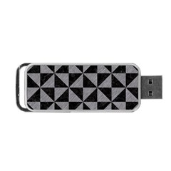 Triangle1 Black Marble & Gray Colored Pencil Portable Usb Flash (two Sides)