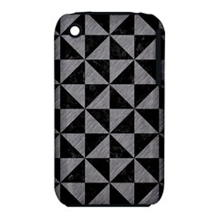 Triangle1 Black Marble & Gray Colored Pencil Iphone 3s/3gs