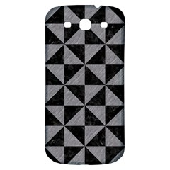Triangle1 Black Marble & Gray Colored Pencil Samsung Galaxy S3 S Iii Classic Hardshell Back Case