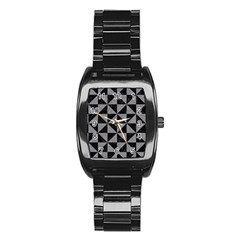 Triangle1 Black Marble & Gray Colored Pencil Stainless Steel Barrel Watch
