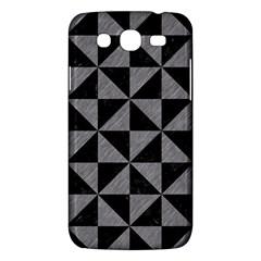 Triangle1 Black Marble & Gray Colored Pencil Samsung Galaxy Mega 5 8 I9152 Hardshell Case