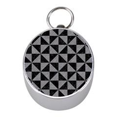 Triangle1 Black Marble & Gray Colored Pencil Mini Silver Compasses