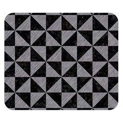 Triangle1 Black Marble & Gray Colored Pencil Double Sided Flano Blanket (small)