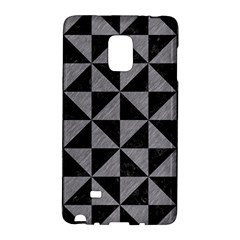 Triangle1 Black Marble & Gray Colored Pencil Galaxy Note Edge