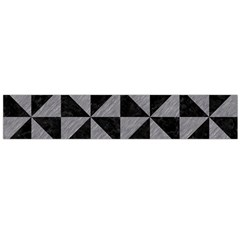 Triangle1 Black Marble & Gray Colored Pencil Flano Scarf (large)