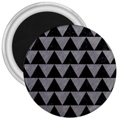 Triangle2 Black Marble & Gray Colored Pencil 3  Magnets