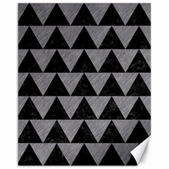 Triangle2 Black Marble & Gray Colored Pencil Canvas 16  X 20