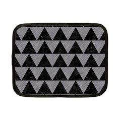 Triangle2 Black Marble & Gray Colored Pencil Netbook Case (small)