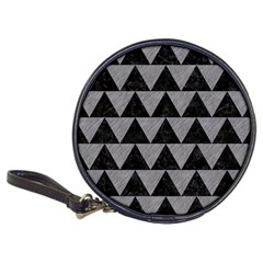 Triangle2 Black Marble & Gray Colored Pencil Classic 20 Cd Wallets