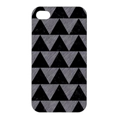 Triangle2 Black Marble & Gray Colored Pencil Apple Iphone 4/4s Hardshell Case