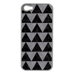 Triangle2 Black Marble & Gray Colored Pencil Apple Iphone 5 Case (silver)