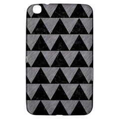 Triangle2 Black Marble & Gray Colored Pencil Samsung Galaxy Tab 3 (8 ) T3100 Hardshell Case