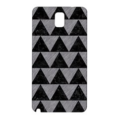 Triangle2 Black Marble & Gray Colored Pencil Samsung Galaxy Note 3 N9005 Hardshell Back Case