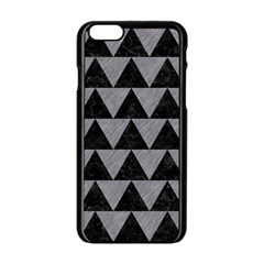 Triangle2 Black Marble & Gray Colored Pencil Apple Iphone 6/6s Black Enamel Case