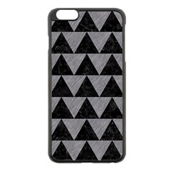 Triangle2 Black Marble & Gray Colored Pencil Apple Iphone 6 Plus/6s Plus Black Enamel Case