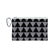 Triangle2 Black Marble & Gray Colored Pencil Canvas Cosmetic Bag (s)