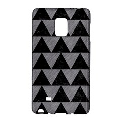 Triangle2 Black Marble & Gray Colored Pencil Galaxy Note Edge