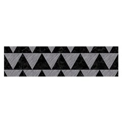 Triangle2 Black Marble & Gray Colored Pencil Satin Scarf (oblong)