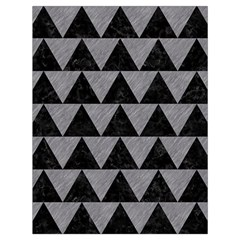 Triangle2 Black Marble & Gray Colored Pencil Drawstring Bag (large)