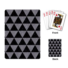Triangle3 Black Marble & Gray Colored Pencil Playing Card