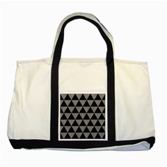 Triangle3 Black Marble & Gray Colored Pencil Two Tone Tote Bag