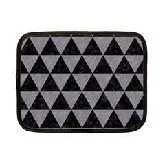 Triangle3 Black Marble & Gray Colored Pencil Netbook Case (small)
