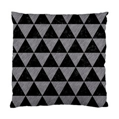 Triangle3 Black Marble & Gray Colored Pencil Standard Cushion Case (two Sides)
