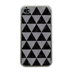 Triangle3 Black Marble & Gray Colored Pencil Apple Iphone 4 Case (clear)