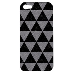 Triangle3 Black Marble & Gray Colored Pencil Apple Iphone 5 Hardshell Case