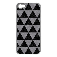 Triangle3 Black Marble & Gray Colored Pencil Apple Iphone 5 Case (silver)