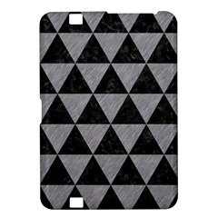 Triangle3 Black Marble & Gray Colored Pencil Kindle Fire Hd 8 9