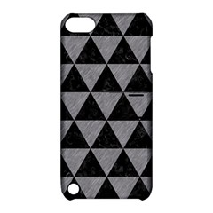 Triangle3 Black Marble & Gray Colored Pencil Apple Ipod Touch 5 Hardshell Case With Stand