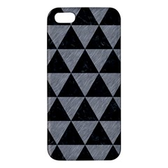 Triangle3 Black Marble & Gray Colored Pencil Apple Iphone 5 Premium Hardshell Case