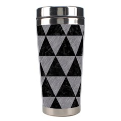 Triangle3 Black Marble & Gray Colored Pencil Stainless Steel Travel Tumblers