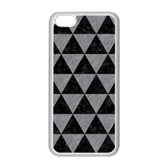 Triangle3 Black Marble & Gray Colored Pencil Apple Iphone 5c Seamless Case (white)