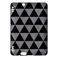 Triangle3 Black Marble & Gray Colored Pencil Kindle Fire Hdx Hardshell Case