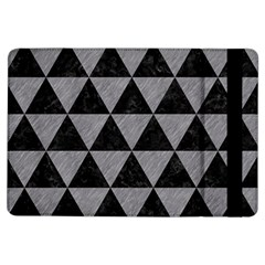 Triangle3 Black Marble & Gray Colored Pencil Ipad Air Flip